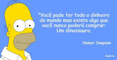 Homer Simpson - frase - dinossauro